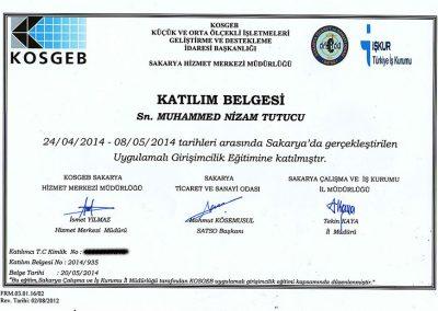 KOSGEB Girişimcilik Eğitimi - 2014