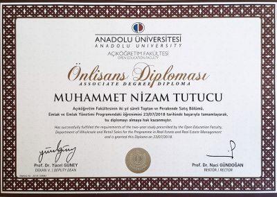 Anadolu Üniversitesi - Emlak ve Emlak Yönetimi - 2018