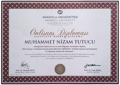 Anadolu Üniversitesi - Web Tasarımı & Kodlama - 2021